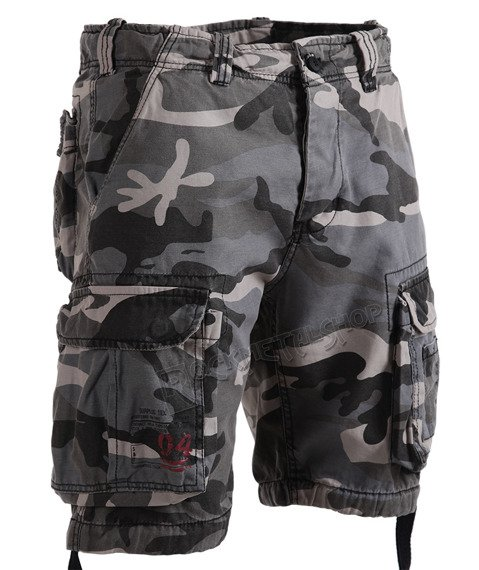 spodnie bojówki krótkie AIRBORNE VINTAGE NIGHTCAMO