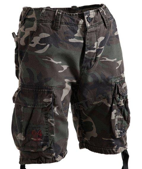 spodnie bojówki krótkie AIRBORNE VINTAGE WOODLAND