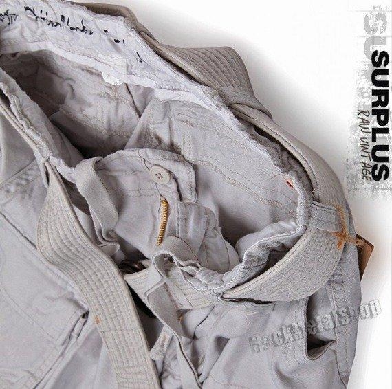 spodnie bojówki krótkie DIVISION SHORT off-white