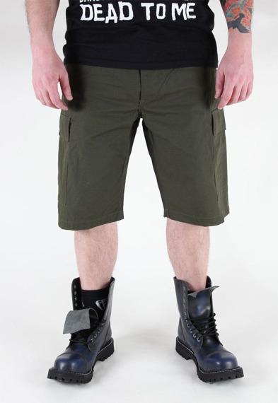 spodnie bojówki krótkie US BERMUDA RIP-STOP COTTON OLIV