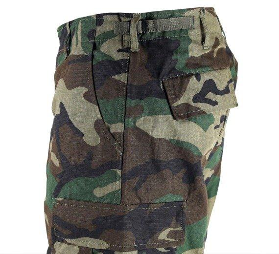 spodnie bojówki krótkie US BERMUDA RIP-STOP COTTON WOODLAND