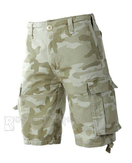 spodnie bojówki krótkie VINTAGE SHORTS - SANDSTORM
