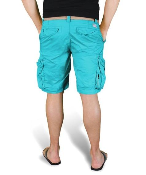 spodnie bojówki krótkie XYLONTUM VINTAGE SHORTS PETROL