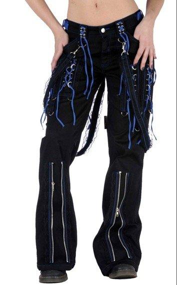 spodnie damskie CRAZY ZIPPERS BLUE (TR313)