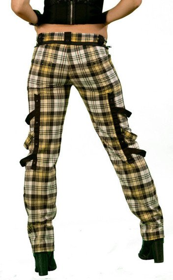 spodnie damskie DEAD THREADS - TARTAN