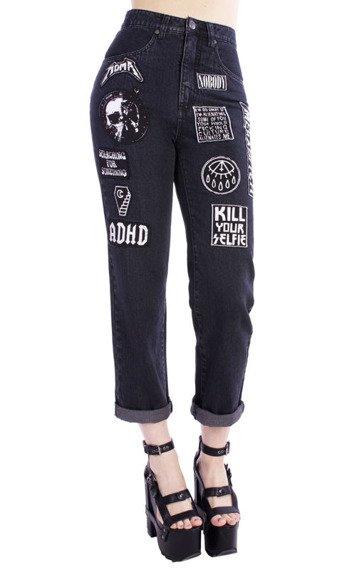 spodnie damskie DISTURBIA - MOSH JEANS