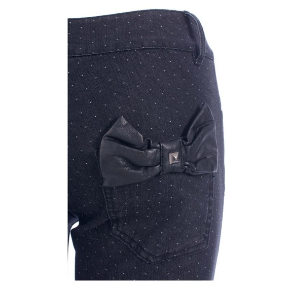spodnie damskie IRON FIST - SNEAKY CHEEKY DENIM black