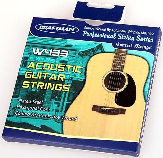 struny do gitary akustycznej CRAFTMAN HEXAGONAL, BRONZE WOUND W433-SL /011-052/