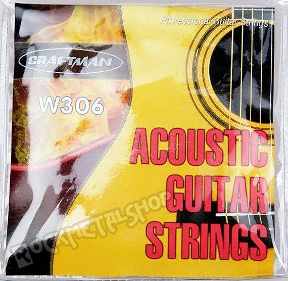 struny do gitary akustycznej CRAFTMAN SILVER WOUND W306-XL /010-047/