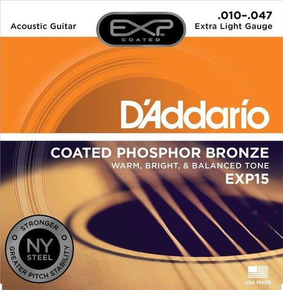 struny do gitary akustycznej D'ADDARIO BRONZE 80/20 X-LITE EXP15 /010-047/