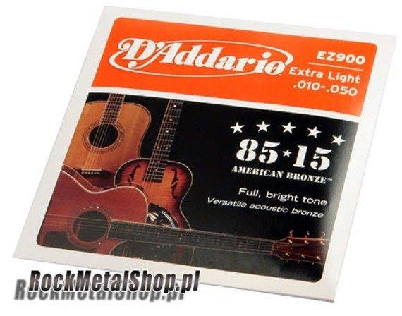 struny do gitary akustycznej D'ADDARIO EZ900 /010-050/