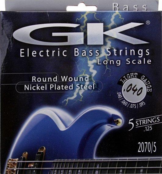 "struny do gitary basowej 5str. MEDINA ARTIGAS 2070/5 ""GK"" Nickel Plated / Light /040-125/"
