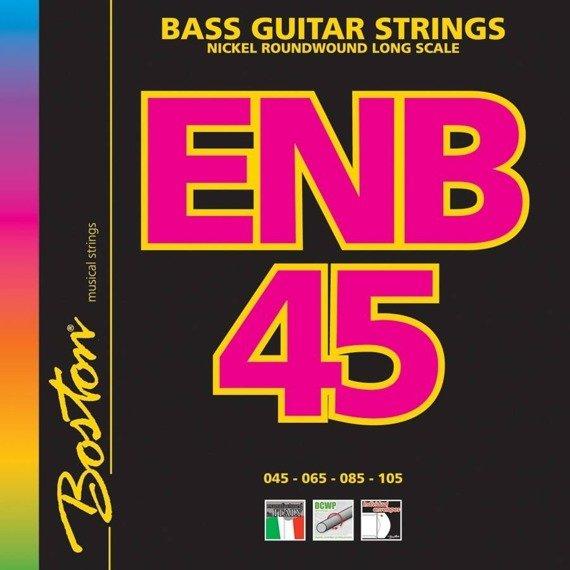struny do gitary basowej BOSTON ENB45 / NICKEL ROUNDWOUND /045-105/