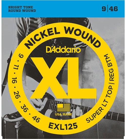 struny do gitary elektrycznej D'ADDARIO EXL125 /009-046/