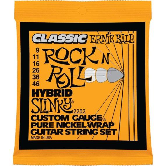 struny do gitary elektrycznej ERNIE BALL EB2252 Slinky R'n'R PURE NICKEL /009-046/