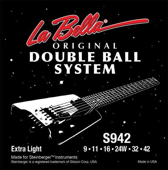 struny do gitary elektrycznej LA BELLA S942 Double Ball EXTRA LIGHT /009-042/