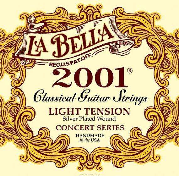 """struny do gitary klasycznej LA BELLA 2001L """"CONCERT"""" Light Tension"""