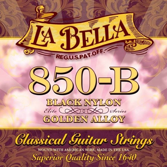 struny do gitary klasycznej LA BELLA Elite Series 850-B Golden Superior / Black Nylon