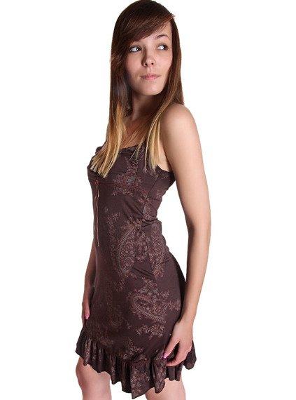 sukienka ELEANOR brązowa