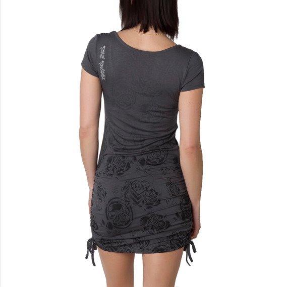 sukienka METAL MULISHA - GWYN szara