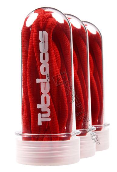 sznurowadła TUBELACES - RED (130 cm)