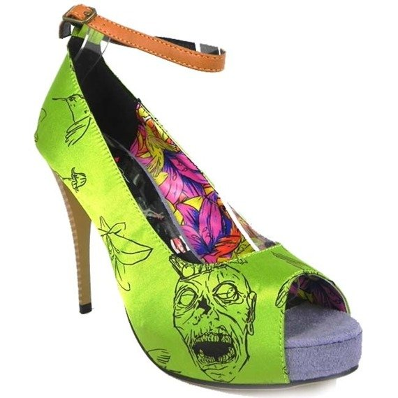 szpilki IRON FIST - ZOMBIETINI PLATFORM (GREEN)