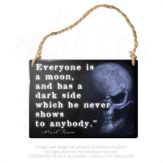 "tabliczka z metalu ""EVERYONE IS A MOON"""