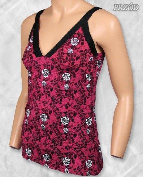 top damski SKULLS & ROSES różowy