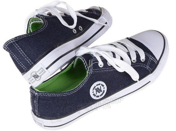 trampki NEW AGE - JEANS / APPLE GREEN (083)