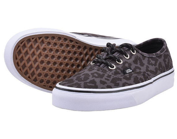 trampki VANS - AUTHENTIC WAXED LEOPARD BLACK