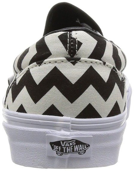 trampki VANS - CLASSIC SLIP ON CHEVRON BLACK WHITE