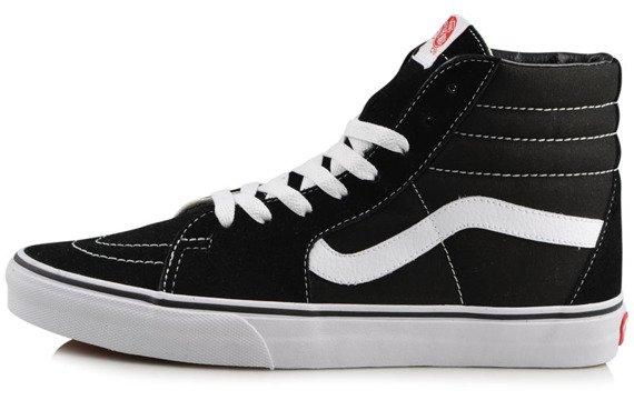 trampki VANS - SK8 HI BLACK BLACK WHITE