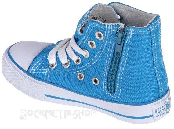trampki dziecięce NEW AGE - BABY BLUE (082K)