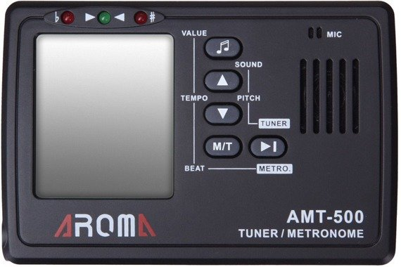 """tuner + metronom """"2w1"""" AROMA AMT-500 + klips"""