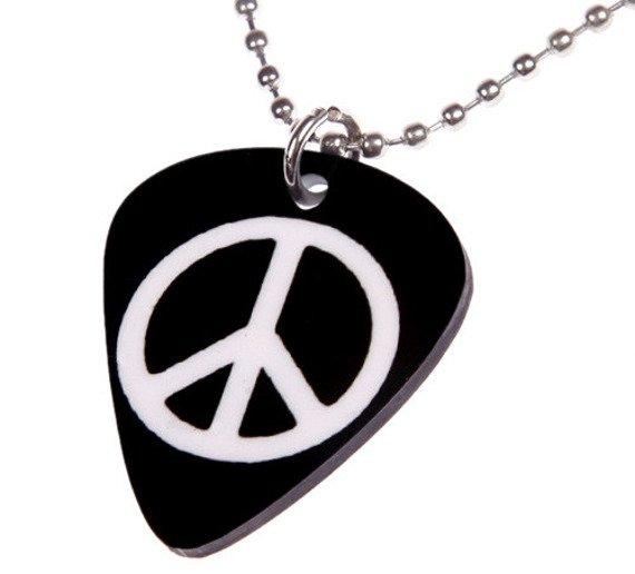 wisior kostka gitarowa PEACE