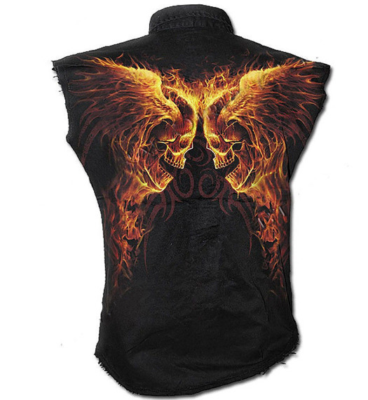 workshirt BURN IN HELL bez rękawów