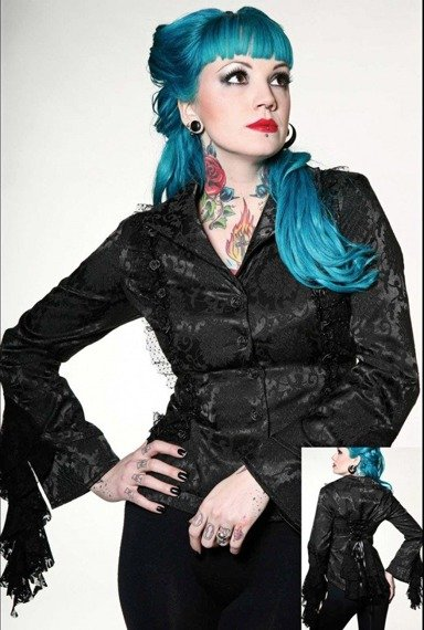żakiet damski BLACK ROSES