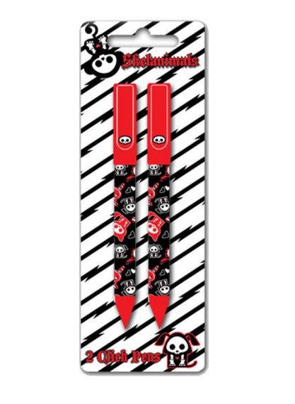 zestaw długopisów SKELANIMALS - ZEBRA red  (opakowanie 2 szt)
