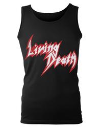 bezrękawnik LIVING DEATH - RED LOGO