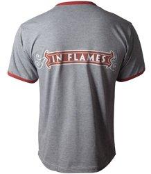 koszulka IN FLAMES - LOGO szary melanż