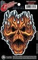 naklejka na gitarę FLAME WHIP SKULL (GT77013)